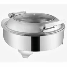 Round Glass Lid Chafing Dish With Heating El