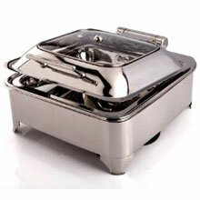 Square Glass Lid Chafer With Heating Element